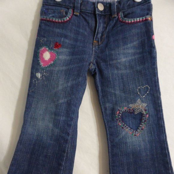 BABY GAP jeans with hearts front and back, 3 years